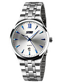 cheap Dress Watches-SKMEI Men's Fashion Watch / Dress Watch Calendar / date / day / Water Resistant / Water Proof / Noctilucent Stainless Steel Band Elegant / Minimalist Silver