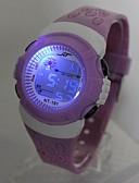 ราคาถูก นาฬิกาสำหรับเด็ก-สำหรับเด็ก นาฬิกาแฟชั่น นาฬิกาดิจิตอล ญี่ปุ่น นาฬิกาอิเล็กทรอนิกส์ (Quartz) ดิจิตอล ยางทำจากซิลิคอน ม่วง 30 m นาฬิกาใส่ลำลอง ดิจิตอล สุภาพสตรี เท่ห์ - สีม่วง หนึ่งปี อายุการใช้งานแบตเตอรี่