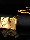 abordables Relojes Brazalete-Mujer Collares con colgantes / Collar de medallones - Chapado en oro 18K, Chapado en Oro Moda Gargantillas Para Boda