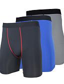 baratos Camisolas e Pijamas Femininos-Arsuxeo Homens Short de Compressão de Corrida - Vermelho, Azul, Cinzento Esportes Sólido, Clássico Shorts / Calças Roupas Esportivas