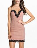 זול שמלות נשים-מעל הברך קולור בלוק - שמלה קלסי ונצחי שיק ומודרני בגדי ריקוד נשים