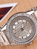 baratos Relógios da Moda-yoonheel Mulheres Relógio de Pulso Relógio Casual Metal Banda Amuleto / Fashion Prata / Dourada / Um ano / SODA AG4