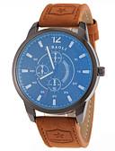 baratos Aço Inoxidável-JUBAOLI Homens Relógio Elegante / Relógio de Pulso Venda imperdível Couro Banda Amuleto / Fashion / SSUO LR626