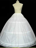 cheap Historical & Vintage Costumes-Slips A-Line Slip Ball Gown Slip Chapel Train Floor-length 2 Tulle Netting White