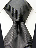 abordables Cinturones a la Moda-Hombre Rayón Corbata - Fiesta Trabajo Básico Bloques A Cuadros Jacquard
