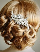 זול חולצה-חומר / סגסוגת מסרקים / אביזר לשיער עם קריסטל חתונה / Party / אירוע מיוחד כיסוי ראש