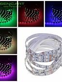 olcso Ruha óra-SENCART 1m LED-es szalagfények 60 LED 5050 SMD Meleg fehér / RGB / Fehér Távirányító / Cuttable / Tompítható 12 V / Összekapcsolható / Gépjárműbe / Öntapadós / IP44