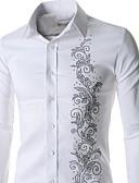 billige Herreskjorter-Akryl Spandex Langermet Skjorte Ensfarget Daglig Formell Arbeid Herre