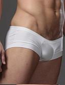 abordables Ropa interior para hombre exótica-Hombre Normal Sexy Boxers Cortos - Estilo moderno, Un Color Baja cintura Blanco Negro M L XL / Pitillo