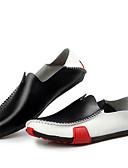 זול תחתוני גברים אקזוטיים-בגדי ריקוד גברים נעלי עור עור אביב / סתיו נוחות נעליים ללא שרוכים מונע החלקה שחור / כחול ים / נוחות לופרס