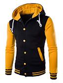 abordables Sudaderas de Hombre-Hombre Deportes Activo Manga Larga La chaqueta con capucha Bloques