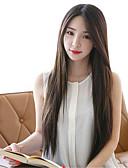 halpa Naisten yöasut-Synteettiset peruukit Suora Synteettiset hiukset Keskijakaus Ruskea Peruukki Naisten Pitkä Suojuksettomat