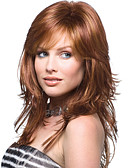 cheap Mother of the Bride Dresses-High Quality Capless Long  Wavy Mono Top Virgin Remy  Human Hair Wigs 7 Colors to Choose