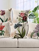 cheap Women's Pants-5 pcs Cotton / Linen Pillow Cover, Floral Country