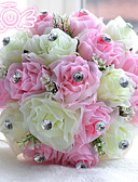 "cheap Wedding Gifts-Wedding Flowers Bouquets Wedding Bead Polyester Satin Foam 11.02""(Approx.28cm)"