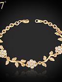 cheap Evening Dresses-Women's Synthetic Diamond Bracelet - Rhinestone, Imitation Diamond Flower Charm, Vintage, Party Bracelet Gold / Silver For Daily