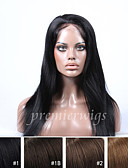 cheap Men's Downs & Parkas-Human Hair Full Lace Wig Straight Wig 130% Natural Hairline / African American Wig / 100% Hand Tied Women's Short / Medium Length / Long Human Hair Lace Wig