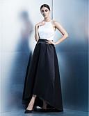 זול שמלות ערב-גזרת A עם תכשיטים א-סימטרי סאטן בלוק צבע נשף רקודים / ערב רישמי שמלה עם סרט על ידי TS Couture®