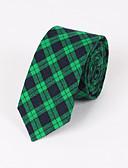 baratos Gravatas e Gravatas Borboleta-Homens Luxo Quadriculado Fashion Criativo
