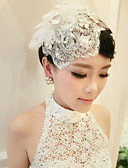 cheap Wedding Veils-Acrylic Barrette with 1 Wedding / Special Occasion Headpiece