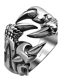 cheap Smartwatches-Men's Ring - Stainless Steel, Titanium Steel Dragon Personalized, Fashion 9 / 10 / 11 Silver For Halloween / Daily / Casual