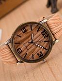 ieftine Ceasuri La Modă-Pentru femei Ceas de Mână Quartz Piele PU Matlasată Alb / Maro / Gri Ceas Casual Analog femei Charm Casual Modă Lemn - 3# 4# 5# Un an Durată de Viaţă Baterie / Jinli 377