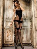 رخيصةأون Women's Sexy Clothing-نسائي سوبر مثير لانجري بحزام / مثير جداً ملابس نوم لون سادة