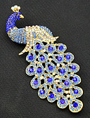 cheap Wedding Veils-Women's Brooches - Gold Plated Peacock Vintage, Fashion Brooch Royal Blue For Party / Special Occasion