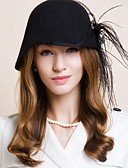 cheap Women's Belt-Wool Kentucky Derby Hat / Hats with 1 Wedding / Special Occasion / Casual Headpiece