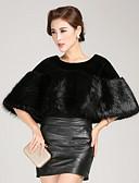 billige Modetørklæder-Rund hals Ren Farve Dame Kort Ensfarvet Vinter Vintage Daglig Cloak / Capes Imiteret pels