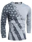 baratos Camisetas & Regatas Masculinas-Homens Tamanhos Grandes Camiseta - Esportes Trabalho Estampado Algodão