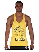baratos Camisetas & Regatas Masculinas-Homens Malha Íntima - Esportes Estampado Algodão