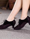 preiswerte Tanzzubehör-Damen Schuhe für modern Dance Wildleder Absätze Schnürsenkel Kubanischer Absatz Keine Maßfertigung möglich Tanzschuhe Gelb / Fuchsia / Innen / Leistung / Praxis / Professionell