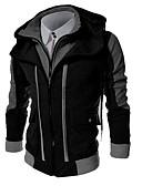 cheap Men's Hoodies & Sweatshirts-Men's Plus Size Sports Basic Long Sleeves Slim Hoodie Jacket - Color Block