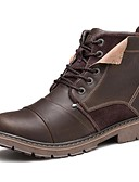 cheap Men's Swimwear-Men's Fashion Boots Nappa Leather Fall / Winter Comfort / Motorcycle Boots Boots Black / Coffee / Party & Evening