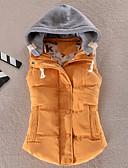 olcso Női hosszú kabátok és parkák-Női Hétköznapi viselet Egyszínű Szokványos Kosaras, Poliészter Ujjatlan Tél Kapucni Kék / Rózsaszín / Bor XXXXL / XXXXXL / XXXXXXL