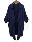 cheap Women's Blazers-Women's Fashion Trench Coat-Solid Colored,Classic