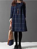 ieftine Paltoane Trench Femei-Pentru femei Mărime Plus Size Larg / Shift Rochie - Crăpătură, Peteci Sub Genunchi