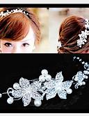 abordables Tocados de Moda-Mujer Perla Artificial Zirconia Cúbica Plateado Legierung Pasador para el Pelo - Bonito Fiesta Un Color