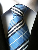 cheap Men's Ties & Bow Ties-Men's Party Work Basic Polyester Necktie - Plaid