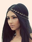 baratos Headpieces Femininos-Mulheres Vintage / Festa / Trabalho Liga Bandana Sólido / Fofo / Dourado
