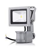 preiswerte Büstenhalter-2800-6500 lm LED Flutlichter 1 Leds Hochleistungs - LED Sensor Warmes Weiß Kühles Weiß Wechselstrom 85-265V