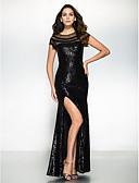 hesapli Gece Elbiseleri-Trompet / Deniz Kızı Illüzyon boyun çizgisi Yere Kadar Payetli Payet ile Resmi Akşam Elbise tarafından TS Couture® / Pullu ve Işıltılı