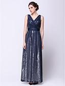 hesapli Balo Elbiseleri-A-Şekilli V Yaka Bilek Boyu Şifon Payet ile Balo Resmi Akşam Elbise tarafından TS Couture®