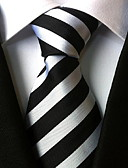 cheap Men's Ties & Bow Ties-Men's Party / Work / Basic Necktie - Striped Classic