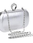 cheap Women's Dresses-Women's Bags PU(Polyurethane) Evening Bag Rhinestone Black / Silver / Red / Wedding Bags / Wedding Bags