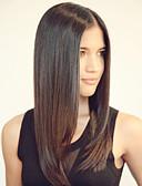 hesapli Spor Saat-Gerçek Saç Ön Dantel Peruk Düz % 120 Yoğunluk Ombre Saç / Doğal saç çizgisi / Afrp Amerikan Peruk Kadın's Orta Gerçek Saç Örme Peruklar / % 100 Elle Bağlanmış