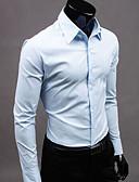 お買い得  メンズシャツ-男性用 プラスサイズ シャツ レギュラーカラー ソリッド