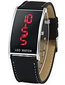 abordables Relojes de Hombre-Hombre Reloj de Moda Japonés Digital 30 m Piel Banda Digital Casual Negro - Negro Un año Vida de la Batería / SSUO CR2025