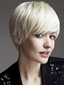 billige Nattøy til damer-Syntetiske parykker Dame Rett Blond Syntetisk hår Blond Parykk Lokkløs Hvit